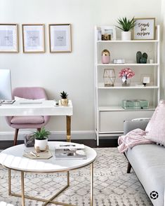 How to create a chic and cozy home office space! • This Mama Loves Life