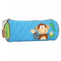 Monkey Quilted Pencil Pouch