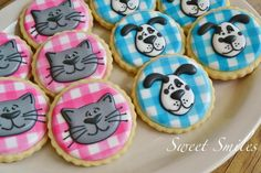 Cats and Dogs | Cookie Connection Sweet Smiles agreed for Econlady and I to use these designs for SPCA cookies - Yay K