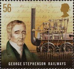 Pioneers of Industrial Revolution 56p Stamp (2009) George Stephenson - Railways