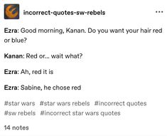 Sw Rebels, Star Wars Rebels, Star Wars Clone Wars, Star Wars Art, Star Trek, Writing Advice, Writing Prompts, Star Wars Jokes, High Ground