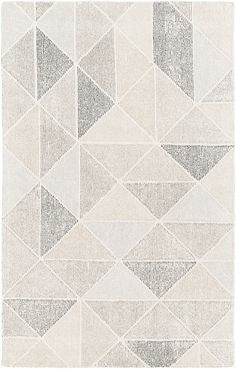 Surya Melody x Rectangle Wool Hand Tufted Geometric Area Rug Black Rugs Area Rugs