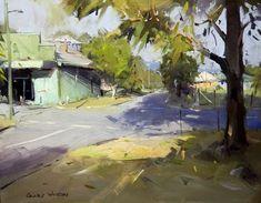 Colley Whisson Kenilworth Shadows, Aust, Oil 12''x 16''