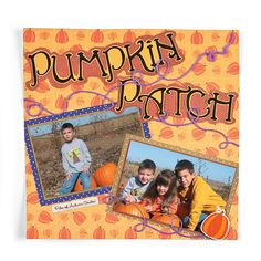 Pumpkin Patch Scrapbook Page - OrientalTrading.com