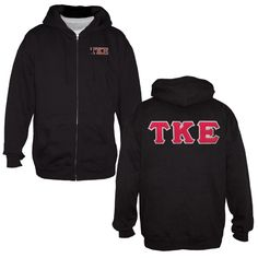 You cant beat the versatility of a full zip hoodie. Whats even better is this one shouts Tau Kappa Epsilon front and back.  Sewn on letters back design and embroidered left chest.  Cotton/poly blend, runs true to size.