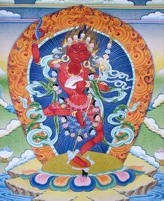 Vajravarahi (Dorje Pakmo) │ 金剛亥母 │ 心咒: 『嗡。班雜。貝若渣尼也。哈哩尼薩。吽吽呸。梭哈。』