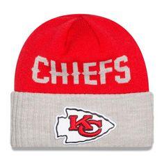 Mens   Womens Kansas City Chiefs New Era 2016 NFL Fashion Red   Heather  Gray Classic Cover Cuffed Knit Beanie Hat aca7b11d81f0