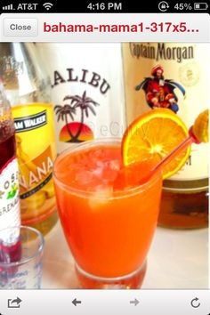 ¾ ounce Coconut Rum (Malibu) ¾ ounce Banana Liqueur (Hiram Walker) 1 ounce Spiced Rum (Captain Morgan) 1.5 ounce Orange Juice 2.5 ounce Pineapple Juice 2-4 dashes (1-2 tablespoon) Grenadine ¼ cup crushed ice