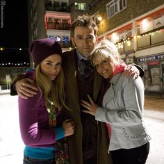"83.6k Likes, 1,159 Comments - Doctor Who Official (@bbcdoctorwho) on Instagram: ""#FlashbackFriday to this lovely shot of Billie Piper, David Tennant and Camille Coduri. Can you…"""