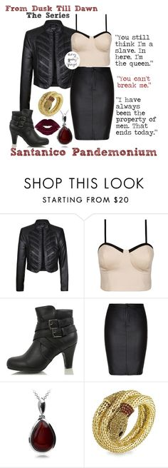 """""""From Dusk Till Dawn (The Series): Santanico Pandemonium"""" by curvygeekyfangirl ❤ liked on Polyvore featuring Classified and City Chic"""