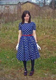 Polka Dot Birthday Dress by strawberrykoi, via Flickr