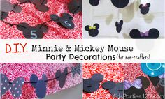 D.I.Y Mickey and Minnie Mouse Party Decor