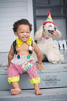 Boys 1st Birthday Boys Clown Costume Baby by MYSWEETCHICKAPEA