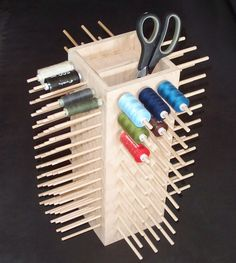 Spool holder for 155 rolls spools storage by MatharKeramik on Etsy