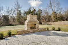 Outdoor Fireplace #stone #outside