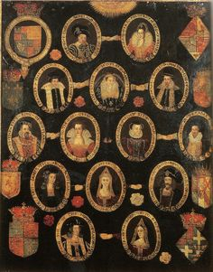forbiddenalleys:    Family tree of Mary Queen of Scots, c.1603