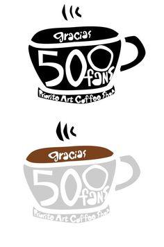 Imágenes para celebrar los 500 fans en Facebook de Prioritè Art Coffee Shop.