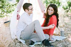 camping inspiration // Malibu Engagement Photos: Denise + Dominic