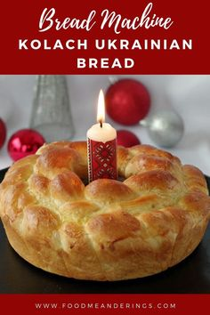 This Kolach Bread is a traditional braided Ukrainian Bread made right in your bread machine! Three loaves, one on top of the other, are an essential part of the Ukrainian Christmas Eve Supper. Making… More Ukrainian Easter Bread Recipe, Ukrainian Recipes, Ukrainian Food, Christmas Food Gifts, Christmas Baking, Christmas Eve, Christmas Recipes, Bread Machine Recipes, Bread Recipes