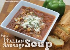 This Italian Sausage Soup recipe is super easy, has very few ingredients, and is just perfect for the colder weather. My son loves it, and he's not much of a soup eater.