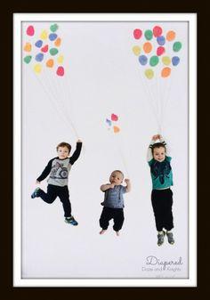 Easy #MothersDay gift idea Fingerprint Balloon Photo