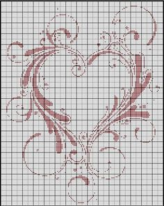 Heart cross stitch pattern