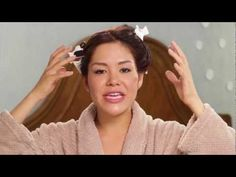 In this video, watch how Linda treats her hair from home.