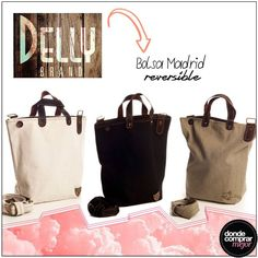 ¡Súper prácticas estas carteras de Delly! ¿Un plus? ¡Son reversibles! ¡Dos en una! www.dondecomprarmejor.com