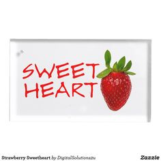 Strawberry Sweetheart Place Card Holder