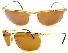 73bfe4c466a6a Persol Ratti Key West Eye Frames - 80s VINTAGE - Nicolas Cage Leaving Las  Vegas Movie - Gold Eye Frames - Vintage Eyewear Made In Italy