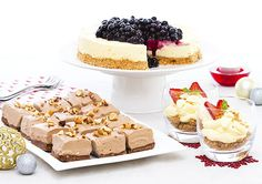 With 3 deliciously creamy Cheesecake recipes, here's something to please all of your guests. Creamy Cheesecake Recipe, Easy Cheesecake Recipes, Dessert Recipes, Cheap Meals, Easy Meals, Delicious Desserts, Yummy Food, Tea Biscuits, Christmas Breakfast