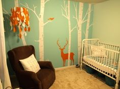 Love this. I'm about to re-do Gavin's room and do an outdoors hunter type theme. Just not sure if I want actual hunters camo or something like this?!