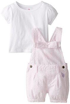 U.S. Polo Assn. Baby Girls' Seersucker Shortall with Jersey Top, Pinkness, 18 Months U.S. Polo Assn. http://www.amazon.com/dp/B00SQ3J20M/ref=cm_sw_r_pi_dp_IuHwwb15B7TAZ