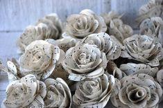 Vintage Music Sheet Paper Flowers for Wedding Decors   AccentsandPetals - Wedding on ArtFire