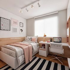 14 Trendy Bedroom Design and Decor Ideas for Your Next Makeover - The Trending House Room Design Bedroom, Girl Bedroom Designs, Room Ideas Bedroom, Home Room Design, Small Room Bedroom, Small Rooms, Home Decor Bedroom, Design For Small Bedroom, Tumblr Bedroom Decor