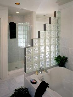 {margin: font: Cambria} Float Glass Ltd is the leading supplier of glass blocks in Malta. Glass blocks, also known as glass. Master Bathroom Shower, Small Bathroom, Shower Niche, Bathroom Showers, Shower Doors, Bathroom Ideas, Shower Ideas, Glass Blocks Wall, Block Wall
