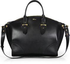 Alexander McQueen Legend Zip Satchel #bag #handbag #black