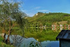 Gyönyörű látvány, ahogy az Arlói-tó partját körülveszik a hegyek. Travel Destinations, Travel Tips, Mountains, Nature, Travelling, Road Trip Destinations, Naturaleza, Destinations, Travel Advice