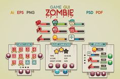 Game GUI Zombie