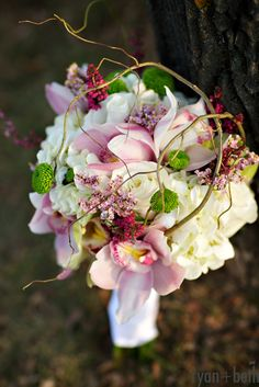 Top choice - moins les branches - Pink wedding bouquet