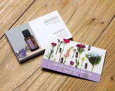 doTerra Serenity business card design. ...and their leaves for healing; Ezekiel Bible scripture personalized for Wellness Advocates. #business #networking