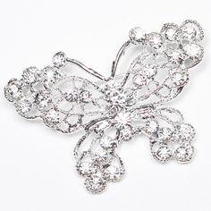 80pcs Rhinestone Brooches Wholesale Crystal by TotallyDazzledBiz, $140.00