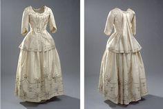 Kinesisk inspireret kjole - skørt og caraco / 18th century China-inspired dress, skirt and caraco + pattern