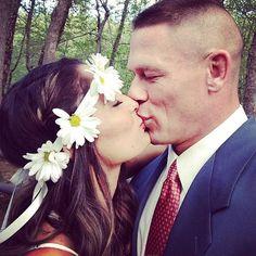 Union of Love from Nikki Bella and John Cena's Love Story  Nikki and John kiss to celebrateBrie Bella's marriage to Daniel Bryan.