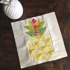 Create a Candied Pineapple quilt block with this free pattern from Eye Candy Quilts!