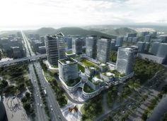 Planificación urbana para parque tecnológico en China. Proyecto de planificación urbana para convertir un área de Hengqin (China) en un Parque de Innovación de Alta Tecnología que impulse la creación de empresas. Este planeamiento posee torres de oficinas, apartamentos, comercios, servicios públicos y diferentes centros que potencien la comunidad empresarial.   #Arquitectura, #Urbanismo