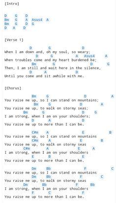 you raise me up chords pdf