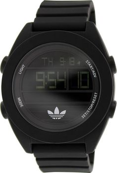 low priced 520cd 25f81 Adidas Men s Santiago ADH2907 Black Silicone Quartz Watch in Jewelry  amp   Watches, Watches,