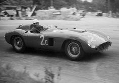 "Phil Hill: Ferrari 860 Monza #0604 M -- Pebble Beach, April 22, 1956 Hill finished 2nd in the ""Del Monte Cup"" at Pebble Beach on April 22, 1956 in John von Neumann's 3432cc. Ferrari 860 Monza #0604.  Carroll Shelby won the race in Dick Hall's 3-liter Ferrari Monza.  Ernie McAfee was killed during the event in Bill Doheny's Ferrari 121LM leading to the end of racing on the tree-lined Pebble Beach course."