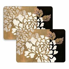 Glamour of Gold Hardboard Placemats (Set of 2) - BedBathandBeyond.com